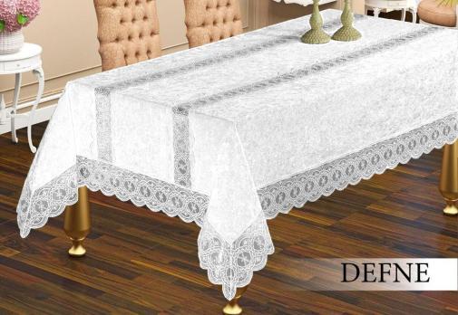 Скатерть Велюр Maison Royale 160x300 Defne White
