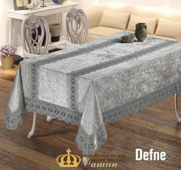 Скатерть Велюр Maison Royale 160x350 Defne Grey