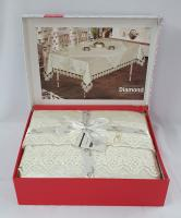 Скатертина Set Велюр Maison Royale 160x220+100x100 Diamond Cream