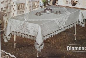 Скатертина Set Велюр Maison Royale 160x220+100x100 Diamond Cappucino