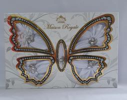 Скатертина Kurdeleli Set Maison Royale 160x300+12 psc White