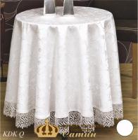 Скатертина мереживо Maison Royale 160 Круг KDK White