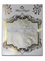 Скатертина мереживо Maison Royale 160x300 Овал KDK Cream