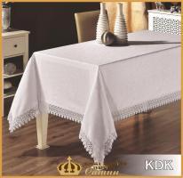 Скатертина мереживо Maison Royale 160x220 KDK White