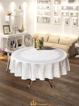 Скатертина  Maison Royale 160 Круг Cazibe White