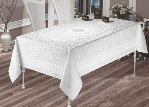 Скатертина  Maison Royale 160x220 Mahe White