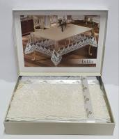 Силиконовая скатерть с кружевом Maison Royale 160х260 Lukka Cream