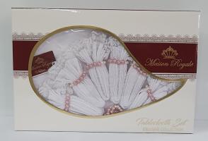 Скатерть KDK Set Maison Royale 160x300+12 psc White