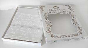 Скатертина тефлон Maison Royale 160*300 Mitsy White