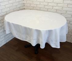 Скатерть Sagol тефлон 160x220 ovale St-060 White