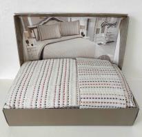 Покрывало My Bed Жакард 240x260 с наволочками Gizgili Grey
