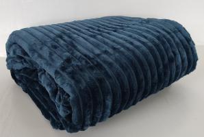 Покривало велюр 150х200  Синий