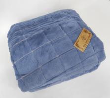 Покривало велюр шиншила двухсторонняя 200х220 синий