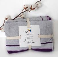 Набор махровых полотенец 4шт Liniya Светло-серый