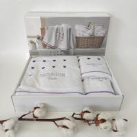 Полотенца Maison D'or 3шт Candy Love White Lilac