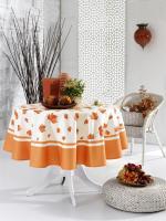 Скатертина Maison D'or 160Q Garden Maple Leaf Orange