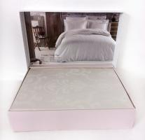 Постельное белье Maison D'or сатин жаккард 260х240 King Size Mirabella Cream