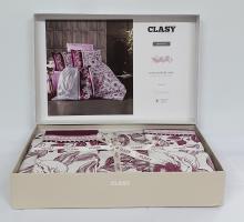 Постельное белье CLASY сатин 200x220 см Mocha v2