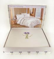 Постільна білизна Maison D'or сатин 200х220 Lavander Embrodery Pink