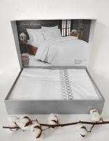 Постільна білизна Maison D'or сатин з вишивкою 200х220 Premium Grey