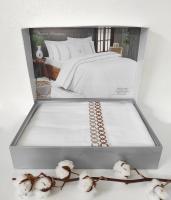 Постільна білизна Maison D'or сатин з вишивою 200х220 Premium Beige