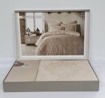Постельное белье Dantela сатин-жакард 200x220 Louisa Bej