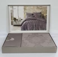 Постельное белье Dantela сатин-жакард 200x220 Louisa Antrasit