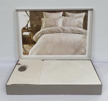 Постільна білизна Dantela сатин-жакард 200x220 Louisa Krem