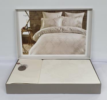 Постельное белье Dantela сатин-жакард 200x220 Louisa Krem
