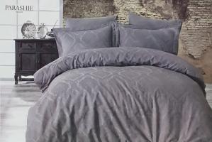 Постельное белье Dantela сатин-жакард 200x220 Parashi Antrasit