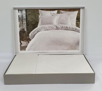 Постельное белье Dantela сатин-жакард 200x220 Louisa Beyaz