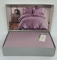 Постільна білизна Maison D'or страйп-сатин 200х220 Rails Lilac