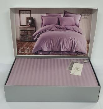 Постельное белье Maison D'or сатин страйп 200х220 Rails Lilac