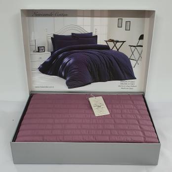 Постельное белье Maison D'or сатин жатка 200х220 New Camile Cotton Dark Lilac