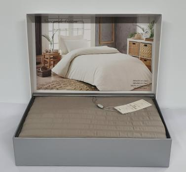Постельное белье Maison D'or сатин жатка 160х220 New Camile Cotton Dark Beige