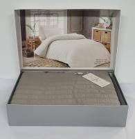 Постельное белье Maison D'or сатин жатка 160х220 New Camile Cotton L.Grey