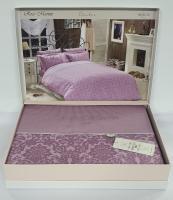 Постельное белье Maison D'or сатин 200х220 Rose Marine Dark Lilac