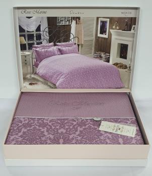 Постельное белье Maison D'or сатин жаккард 200х220 Rose Marine Dark Lilac