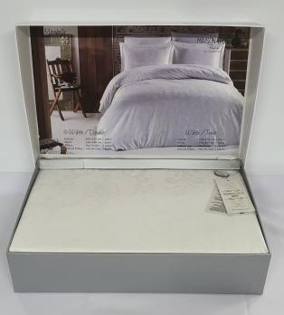 Постельное белье Maison D'or сатин жаккард 200х220 Mirabella White