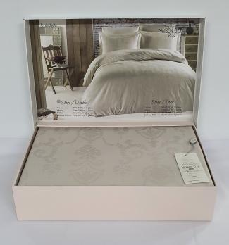 Постельное белье Maison D'or сатин жаккард 200х220 Mirabella Stone
