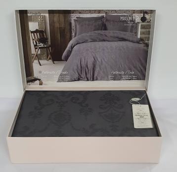Постельное белье Maison D'or сатин жаккард 200х220 Mirabella Anthracite
