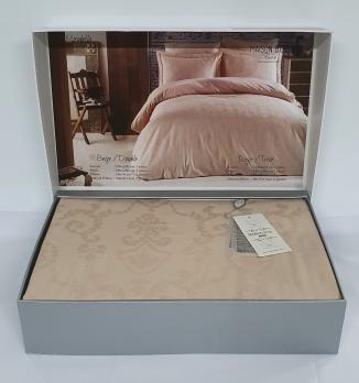 Постельное белье Maison D'or сатин жаккард 200х220 Mirabella Beige