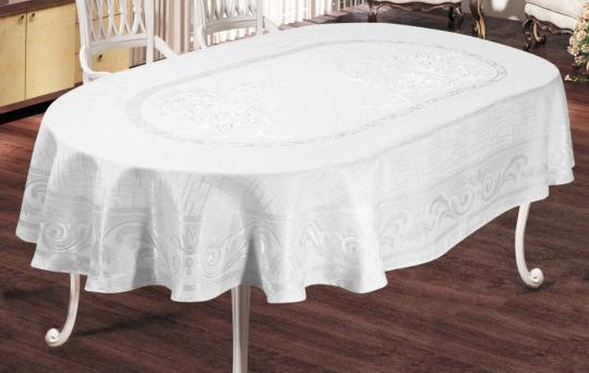 Скатерть Sagol тефлон 160x220 ovale Sgl-003 White