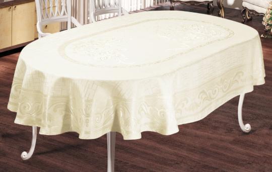 Скатерть Sagol тефлон 160x220 ovale Sgl-003 Cream
