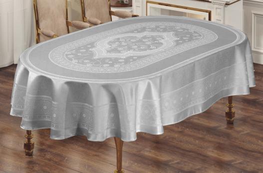 Скатерть Sagol тефлон 160x300 ovale St-052 Grey