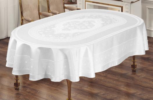 Скатерть Sagol тефлон 160x260 ovale St-052 White