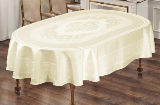 Скатерть Sagol тефлон 160x220 ovale St-052 Cream