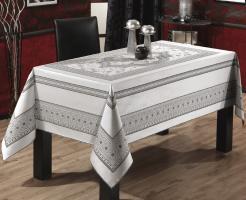 Скатертина тефлонова Sagol 160x260 St-052 Grey