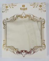 Скатерть Set Sagol тефлон 160x220+6 psc St-052 Cream