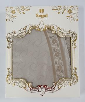 Скатерть Set Sagol тефлон 160x220+6 psc St-052 Cappucino